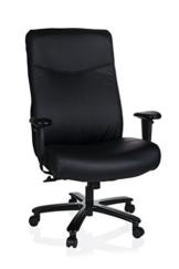 hjh OFFICE 738000 Chefsessel XXL Everest Kunstleder Schwarz Schreibtischstuhl gepolstert bis 180 kg belastbar - 1