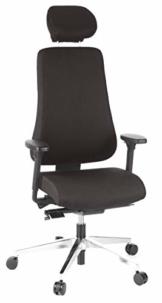 hjh OFFICE Bürostuhl/Chefsessel PRO-TEC 400 Stoff schwarz Alu poliert - 1