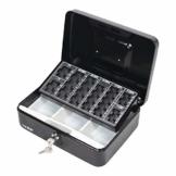 HMF 10022-02 Geldkassette Geldzählkassette 25 x 18 x 9 cm, schwarz - 1