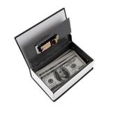 Hot Steel Simulation Wörterbuch Geheimbuch Safe Geldkassette Geld Schmuck Aufbewahrungsbox Sicherheitsschloss - 1