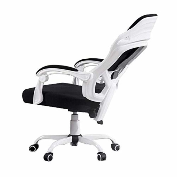 JIEER-C Stuhl Drehstuhl Computer Stuhl, Stahl Fünf-Sterne-Fußgelenk Handlauf Bionic Ergonomics 150 ° Liegefunktion Home Office Stuhl Sitz 2 Farben, Weiß - 1