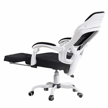 JIEER-C Stuhl Drehstuhl Computerstuhl, Handlauf Gelenk Bionic Ergonomics Bogenhalterung 150 ° Liegefunktion Home Office Stuhl Sitz 2 Farben, Weiß - 1