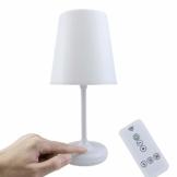 KWOKWEI Tischlampe, Nachttischlampe mit Fernbedienung und Touch-Steuerung, Dimmbar Tischleuchte mit 10 Helligkeitsstufen, Schreibtischlampe mit Zeiteinstellung für Schlafzimmer Kinderzimmer Wohnzimme - 1
