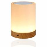 LED Nachttischlampe, Amouhom Dimmbar Atmosphäre Tischlampe für Schlafzimmer Wohnzimmer, 16 Farben Tragbare Nachtlicht mit 2800-3100K Warmes Weißes Licht und Farbwechsel Geschenke für Kinder/Erwachsene - 1