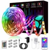 LED Strip, L8star LED Streifen Farbwechsel Led Lichterkette 5M RGB Flexible LED Bänder Strips mit Bluetooth Kontroller Sync zur Musik, Anwendung für Schlafzimmer, Party und Feriendekoration (5M) - 1