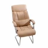 Leder Boss Chair, Chrom Basis Bow Chair, Bionic Ergonomics, 150°Liege, Fünf-Punkt-Unterstützung/beruhigender Gegendruck, hohe Tragfähigkeit - 1
