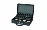 Maul Geldkassette, Euro-Münzgeld Zähleinsatz, Herausnehmbares Scheinfach, 370 x 120 x 290 mm, 5631690, Schwarz, 1 Stück - 1