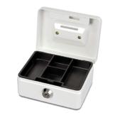 Maul Geldkassette, Münzeinwurf, Inklusive Hartgeldeinsatz, Abschließbar, 125 x 95 x 60 mm, Weiß - 1