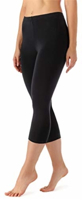 Merry Style Damen Leggings 3/4 aus Viskose MS10-144 (Schwarz, XXL) - 1