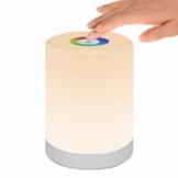 Nachttischlampe Touch Dimmbar, LED Smart NachtLicht Stimmungslicht Schreibtischlampe, USB Aufladbar, Tragbar, FarbWechsel 256 RGB für Kinder, SchlafZimmer, Camping (Warmweiß) - 1