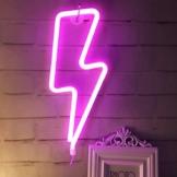 Neonlicht, LED Lightning Sign geformt Dekor Licht, Wand-Dekor für Weihnachten, Geburtstagsfeier, Kinderzimmer, Wohnzimmer, Hochzeit Party Decor (Rosa) - 1