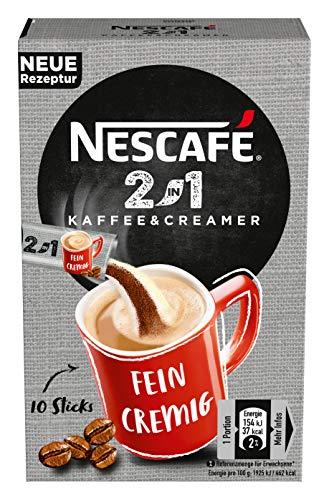 NESCAFÉ 2-in-1 Sticks, löslicher Bohnenkaffee mit Creamer, Instant-Kaffee aus erlesenen Kaffeebohnen, koffeinhaltig, 8er Pack (8 x 80 g) - 5