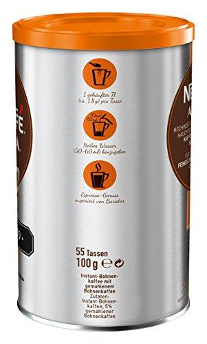 NESCAFÉ AZERA Typ Espresso, hochwertiger Instant Espresso mit feinen Arabica Kaffeebohnen, koffeinhaltig, mit samtiger Crema, 1er Pack (1 x 100g) - 3