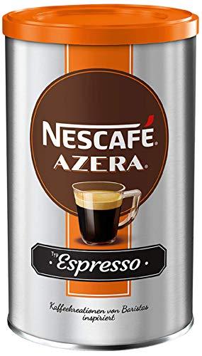 NESCAFÉ AZERA Typ Espresso, hochwertiger Instant Espresso mit feinen Arabica Kaffeebohnen, koffeinhaltig, mit samtiger Crema, 1er Pack (1 x 100g) - 1