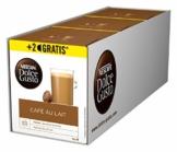 NESCAFÉ Dolce Gusto Café au Lait 54 Kaffeekapseln (ausgewählte Robusta Bohnen, Leichter Kaffeegenuss mit cremigem Milchschaum, Aromaversiegelte Kapseln) 3er Pack (3 x 16 + 2 Kapseln) - 1