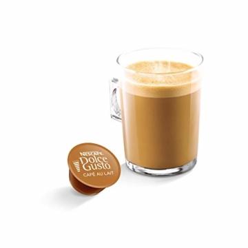 NESCAFÉ Dolce Gusto Café au Lait 54 Kaffeekapseln (ausgewählte Robusta Bohnen, Leichter Kaffeegenuss mit cremigem Milchschaum, Aromaversiegelte Kapseln) 3er Pack (3 x 16 + 2 Kapseln) - 3