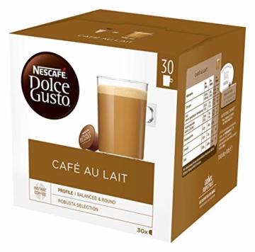 Nescafé Dolce Gusto Café au Lait, XXL-Vorratsbox, 90 Kaffeekapseln, ausgewählte Robusta Bohnen, leichter Kaffeegenuss mit Cremigem Milchschaum, Vorratsbox, 3er Pack Großpackung (3 x 30 Kapseln) - 2
