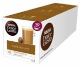 Nescafé Dolce Gusto Café au Lait, XXL-Vorratsbox, 90 Kaffeekapseln, ausgewählte Robusta Bohnen, leichter Kaffeegenuss mit Cremigem Milchschaum, Vorratsbox, 3er Pack Großpackung (3 x 30 Kapseln) - 1