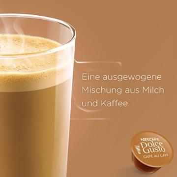 Nescafé Dolce Gusto Café au Lait, XXL-Vorratsbox, 90 Kaffeekapseln, ausgewählte Robusta Bohnen, leichter Kaffeegenuss mit Cremigem Milchschaum, Vorratsbox, 3er Pack Großpackung (3 x 30 Kapseln) - 3