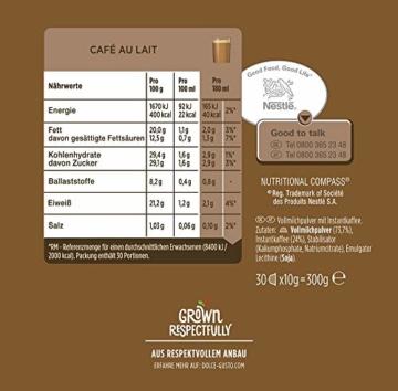 Nescafé Dolce Gusto Café au Lait, XXL-Vorratsbox, 90 Kaffeekapseln, ausgewählte Robusta Bohnen, leichter Kaffeegenuss mit Cremigem Milchschaum, Vorratsbox, 3er Pack Großpackung (3 x 30 Kapseln) - 4