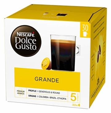 Nescafé Dolce Gusto Caffe Crema Grande, XXL-Vorratsbox, 90 Kaffeekapseln, 100% Arabica Bohnen, feinste Crema und kräftiges Aroma, Blitzschnelle Zubereitung, 3er Pack (3 x 30 Kapseln) - 4