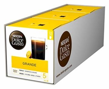Nescafé Dolce Gusto Caffe Crema Grande, XXL-Vorratsbox, 90 Kaffeekapseln, 100% Arabica Bohnen, feinste Crema und kräftiges Aroma, Blitzschnelle Zubereitung, 3er Pack (3 x 30 Kapseln) - 1