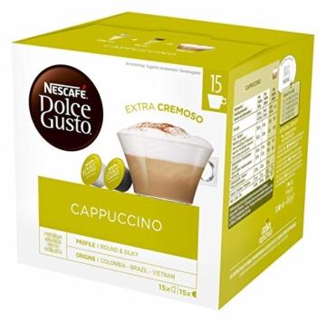 NESCAFÉ Dolce Gusto Cappuccino XXL-Vorratsbox (90 Kapseln, 100% Arabica Bohnen, leichter Kaffeegenuss mit cremigem Milchschaum) 3er Pack (3 x 30 Kapseln) - 3