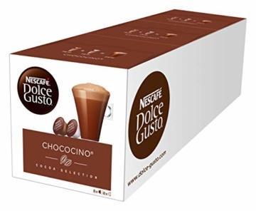 NESCAFÉ Dolce Gusto Chococino | 48 Kapseln Trinkschokolade | Feiner Kakao Geschmack | Cremige Milch und beste Schokolade | Schnelle Zubereitung | Aromaversiegelte Kapseln | 3er Pack (3 x 16 Kapseln) - 1