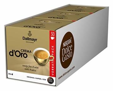 NESCAFÉ Dolce Gusto Dallmayr Crema d'Oro, XXL-Vorratsbox, schnelle Zubereitung, aromaversiegelte Kapseln, 90 Kaffeekapseln - 1