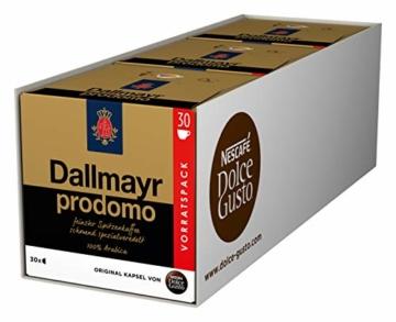 NESCAFÉ Dolce Gusto Dallmayr Prodomo, XXL-Vorratsbox, 90 Kaffeekapseln, 100 Prozent Arabica-Bohnen, Aromaversiegelte Kapseln, 3er Pack (3 x 30 Kapseln) - 1