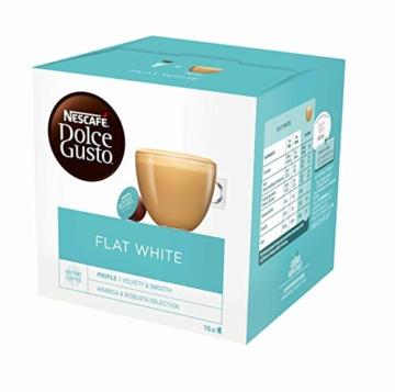 NESCAFÉ Dolce Gusto Flat White | 48 Kaffeekapseln | Arabica und Robusta Bohnen | Cremig-Milchiger Genuss | Kaffeekreation | Coffee-Shop Trend | Aromaversiegelte Kapseln (3 x 16 Kapseln) - 3