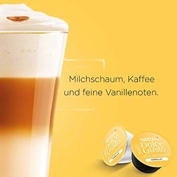 NESCAFÉ Dolce Gusto Latte Macchiato Vanilla   48 Kaffeekapseln   Feines Vanille Aroma und leckerer Milchschaum   Arabica Robusta Mischung   Aromaversiegelte Kapseln   3er Pack (3 x 16 Kapseln) - 3