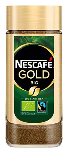 NESCAFÉ GOLD Bio, löslicher Bohnenkaffee aus 100% Arabica Kaffeebohnen, fair gehandelt, biologischer Anbau, koffeinhaltig, 2er Pack (2x100g) - 2