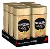 NESCAFÉ Gold Crema, löslicher Bohnenkaffee aus erlesenen Arabica-Kaffeebohnen, Instant-Pulver, koffeinhaltig & aromatisch, 6er Pack (6 x 200 g) - 1