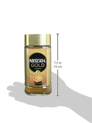 NESCAFÉ Gold Crema, löslicher Bohnenkaffee aus erlesenen Arabica-Kaffeebohnen, Instant-Pulver, koffeinhaltig & aromatisch, 6er Pack (6 x 200 g) - 3