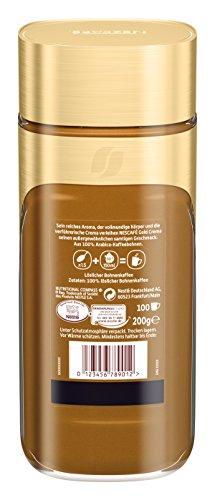 NESCAFÉ Gold Crema, löslicher Bohnenkaffee aus erlesenen Arabica-Kaffeebohnen, Instant-Pulver, koffeinhaltig & aromatisch, 6er Pack (6 x 200 g) - 4