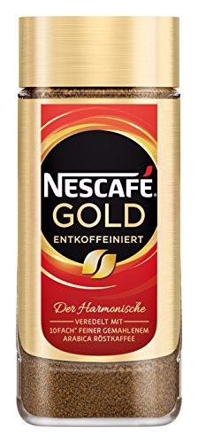 NESCAFÉ GOLD Entkoffeiniert, löslicher Bohnenkaffee aus erlesenen Kaffeebohnen, ohne Koffein, vollmundig & aromatisch, 1er Pack (1 x 200g) - 1