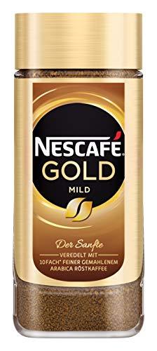 NESCAFÉ Gold Mild, löslicher Bohnenkaffee aus erlesenen Kaffeebohnen, Instant-Pulver, koffeinhaltig & aromatisch, 1er Pack (1 x 100g) - 1