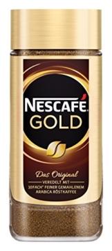 NESCAFÉ GOLD Original, löslicher Bohnenkaffee aus erlesenen Kaffeebohnen, koffeinhaltig, vollmundig & aromatisch, 1er Pack (1 x 200g) - 1