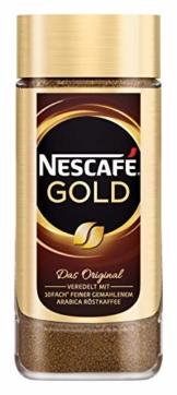 NESCAFÉ Gold Original, löslicher Bohnenkaffee aus erlesenen Kaffeebohnen, koffeinhaltig, vollmundig & aromatisch, 1er Pack (1 x 100g) - 1