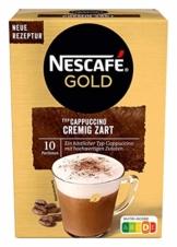 NESCAFÉ Gold Typ Cappuccino Cremig Zart, Getränkepulver aus löslichem Bohnenkaffee, koffeinhaltig, 1 x 140g (à 10 x 14 g Sticks) - 1