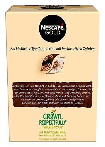 NESCAFÉ Gold Typ Cappuccino Cremig Zart, Getränkepulver aus löslichem Bohnenkaffee, koffeinhaltig, 1 x 140g (à 10 x 14 g Sticks) - 3