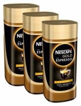 NESCAFÉ Gold Typ ESPRESSO, hochwertiger Instant Espresso mit 100% feinen Arabica Kaffeebohnen, koffeinhaltig, mit samtiger Crema, 3er Pack (3 x 100g) - 1