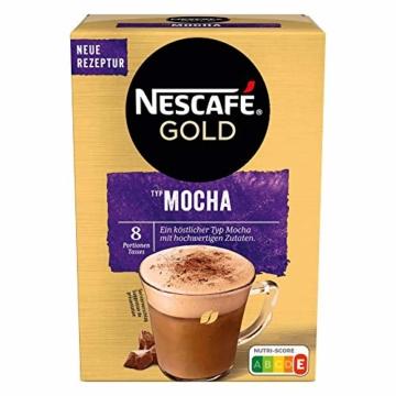 NESCAFÉ Gold Typ Mocha, Getränkepulver aus löslichem Bohnenkaffee, koffeinhaltig, 6er Pack (à 8 x 18g) - 4