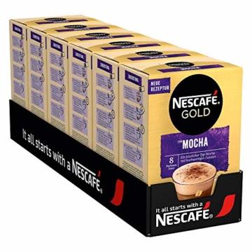 NESCAFÉ Gold Typ Mocha, Getränkepulver aus löslichem Bohnenkaffee, koffeinhaltig, 6er Pack (à 8 x 18g) - 1