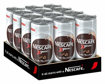 NESCAFÉ Xpress Latte Macchiato, ready to drink Eiskaffee, 12er Pack (12 x 250ml) - 1