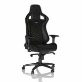 noblechairs Epic Gaming Stuhl - Bürostuhl - Schreibtischstuhl - PU-Kunstleder - Inklusive Kissen - Schwarz/Gold - 1