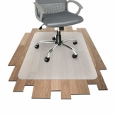 Office Marshal Bodenschutzmatte für Hartböden jeder Art - mit TÜV - bewährte Bürostuhl Unterlage für den zuverlässigen Bodenschutz - Unterlegmatte mit wählbarer Größe (114x200 cm) - 1