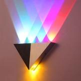 OurLeeme Led Wandleuchte, 5W Aluminium Moderne Dreieck LED Wandleuchten Beleuchtung für Innen (5 Farben) - 1