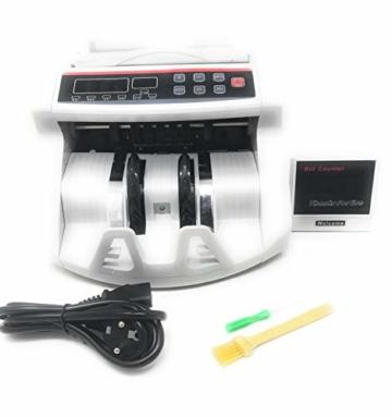 Professionelle Banknotenzähler mit Falschgeld-Detektor und 2 LED-Displays - 1